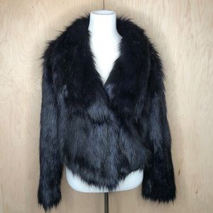 Decree Deep Navy Faux Fur